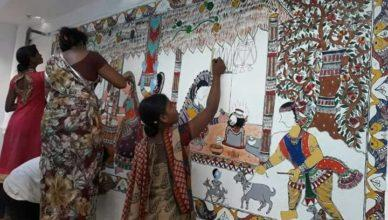 Madhubani (Bihar) Railway Station Embellished With Madhubani Paintings
